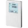 QMX3.P34 Temperatur-/Lüftungs-Regler mit Display und Temperatur-Sensor, - QMX3.P34 Temperatur-/Lüftungs-Regler mit Display und Temperatur-Sensor, als multifunktionales Anzeige- und Bediengerät, mit Temperatur- und Lüftungs-Regelung, mit einem LCD-Display mit Hintergrund-Be...
