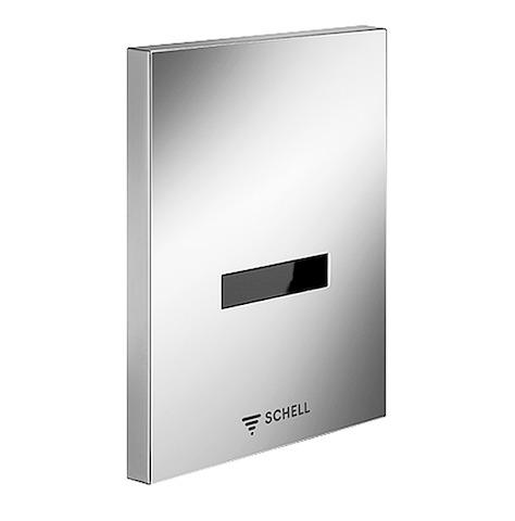 SCHELL Urinalsteuerung EDITION E, ohne Spannungsversorgung, chrom- STLB-Bau Mustervorlage -