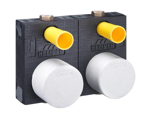 KEMPER RG120-DUO Absperr-Wasserzähler-Montageblock BRUNATA, Figur 854 02, DN 20- STLB-Bau Mustervorlage -