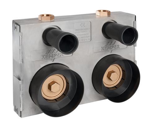 KEMPER ECO-DUO Absperr-Wasserzähler-Montageblock HWW-Modell, Figur 853 07, DN 20- STLB-Bau Mustervorlage -
