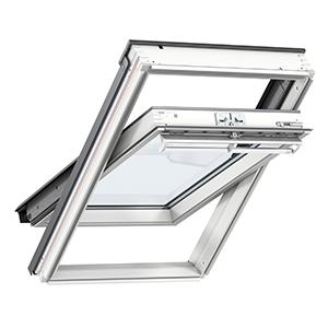 VELUX Dachfenster Rauchabzugsfenster GGL 207040 Holz weiß THERMO Alu- STLB-Bau Mustervorlage -
