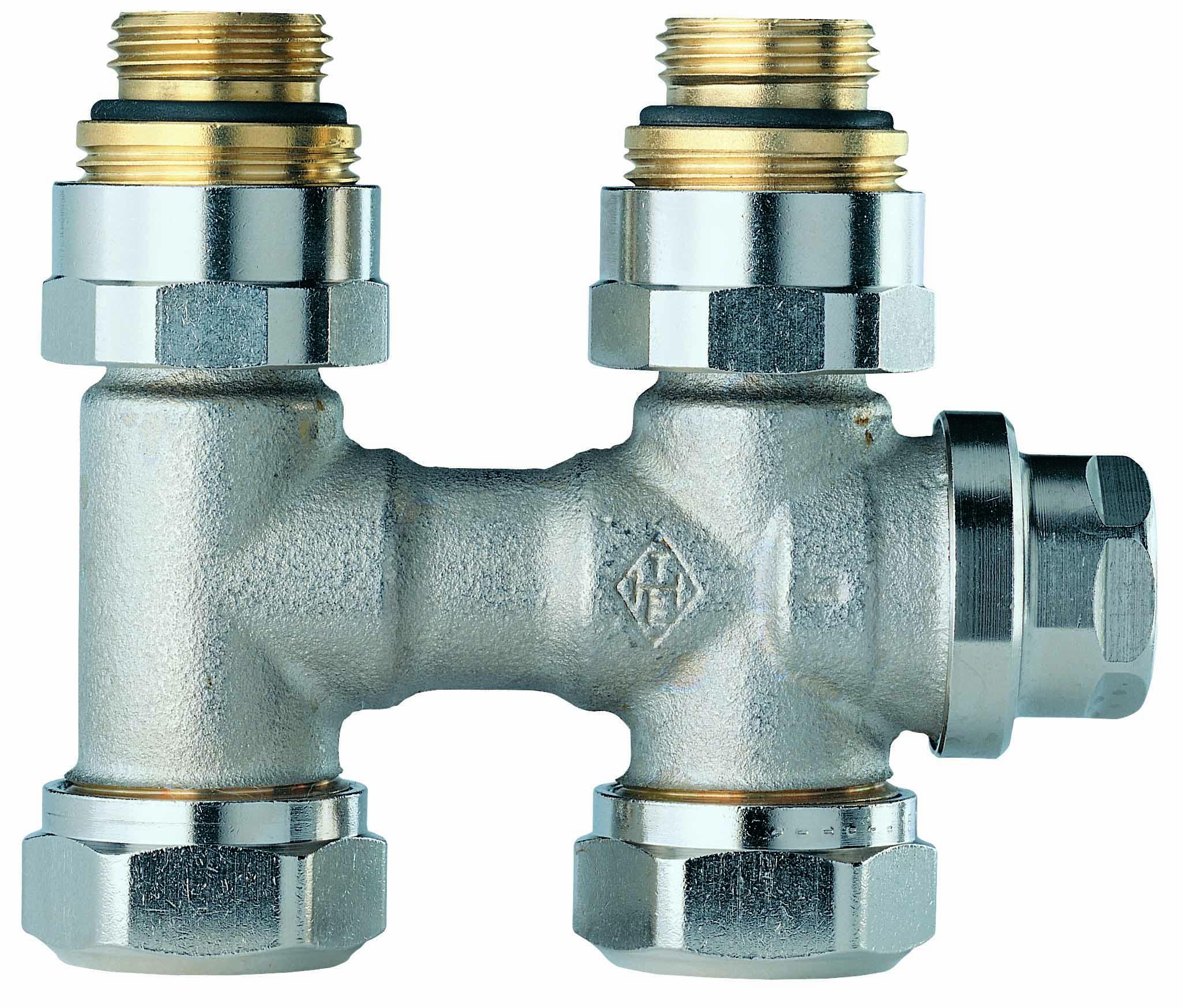 HEIMEIER Verschraubung Vekolux 2-Rohr, Durchgangsform, für VHK mit Rp 1/2 IG- STLB-Bau Mustervorlage -