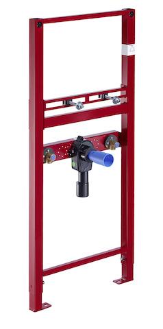 SCHELL Waschtisch-Modul MONTUS, barrierefrei, UP-Siphon, d=40mm- STLB-Bau Mustervorlage -