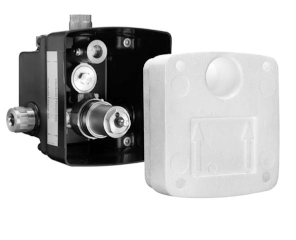 SCHELL UP-Masterbox WBD-SC-K/V, Funktion: Selbst. - vorgem. oder Kaltw.- STLB-Bau Mustervorlage -