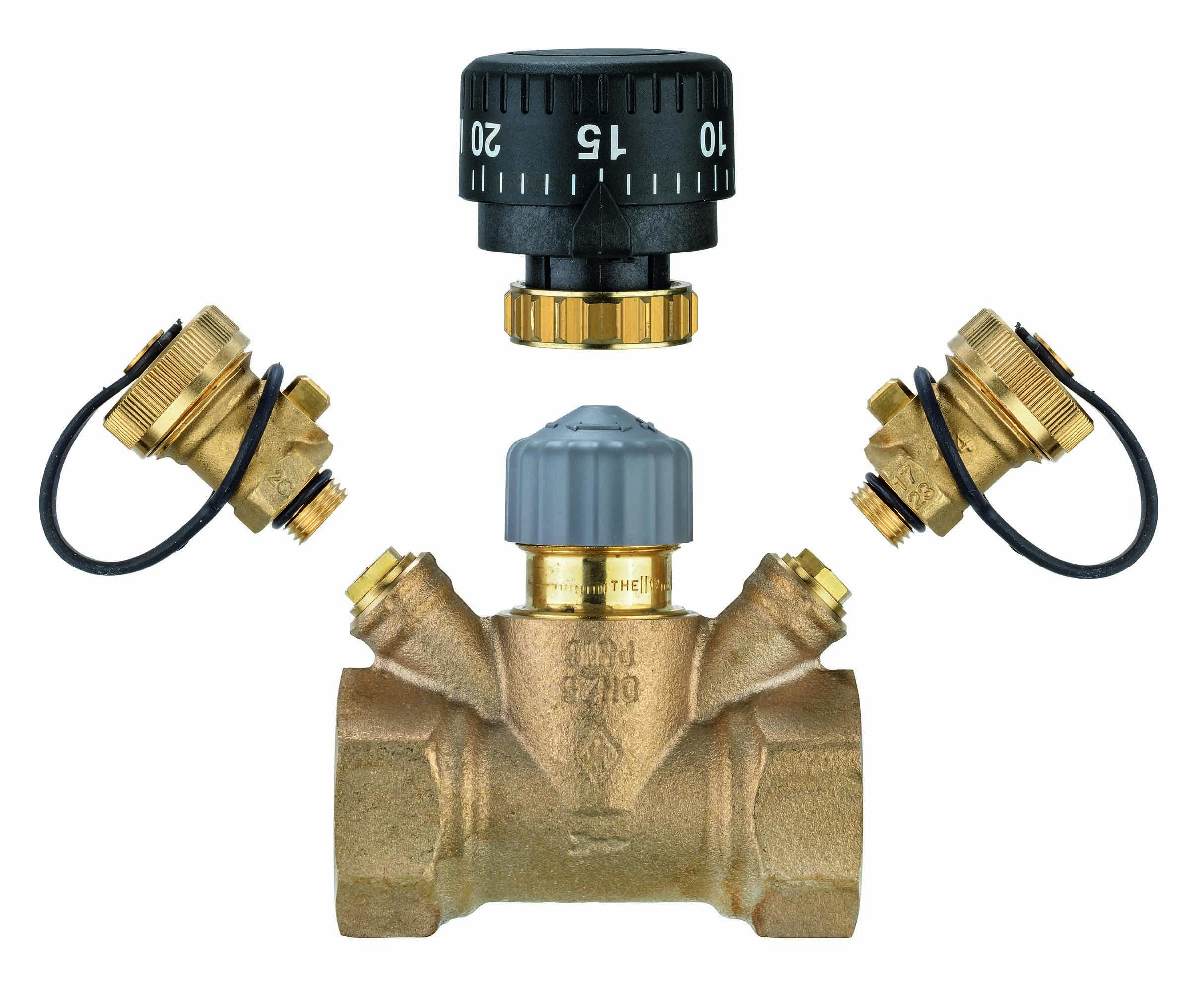 TA Strangregulierventil TA-Multi Set 1, DN 15, Handrad, 2x Entleerung / Messanschluss, Rotguss- STLB-Bau Mustervorlage -
